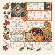 Janlynn Counted Cross Stitch Kit Autumn