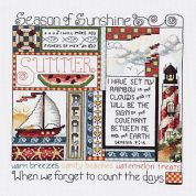 Janlynn Counted Cross Stitch Kit Summer