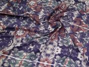 Polycotton Fabric  Purple