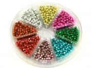 Hobby & Crafting Fun Bead Kit Plastic Faceted Beads  Metallic Gold, Silver, Red, Pink, Green & Blue