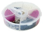 Creative Options Round 6 Compartment Organizer  Clear