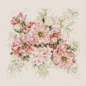 Janlynn Counted Cross Stitch Kit Garden Roses
