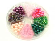 Hobby & Crafting Fun Bead Kit Seed Beads, Bugle Beads & Pearls  Pink, Purple & Green