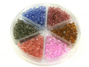 Bead Kit Plastic Faceted Beads  Pink Brown Grey Blue Mauve
