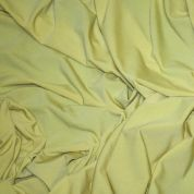 Slinky Feel Polyester Stretch Jersey Dress Fabric  Yellow