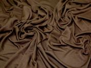 Viscose Stretch Jersey Dress Fabric  Dark Chocolate Brown
