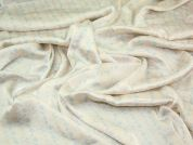 Pretty Border Print Polyester Satin Dress Fabric  Pastels