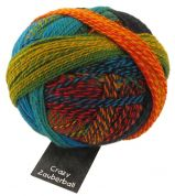 Schoppel Wolle  Crazy Zauberball Sock Knitting Yarn  4 Ply  1564 Yellow/Red/Green/Blue