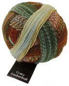 Schoppel Wolle  Crazy Zauberball Sock Knitting Yarn  4 Ply  1660 Brown/Ginger/Green