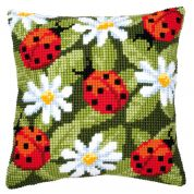Vervaco Cross Stitch Kit Cushion Kit Ladybird