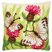 Vervaco Cross Stitch Kit Cushion Kit Butterflies