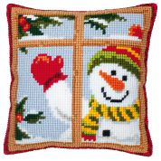 Vervaco Cross Stitch Kit Cushion Kit Snowman
