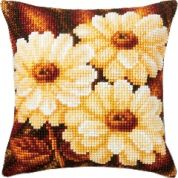 Vervaco Cross Stitch Kit Cushion Kit Daisies