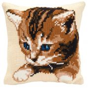 Vervaco Cross Stitch Kit Cushion Kit Kitten