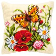 Vervaco Cross Stitch Kit Cushion Kit Butterfly