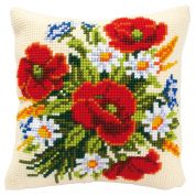 Vervaco Cross Stitch Kit Cushion Kit Flowers
