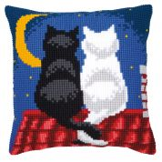 Vervaco Cross Stitch Kit Cushion Kit Roof Top Cats
