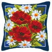 Vervaco Cross Stitch Kit Cushion Kit Poppies
