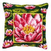 Vervaco Cross Stitch Kit Cushion Kit Waterlily