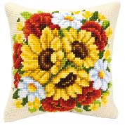 Vervaco Cross Stitch Kit Cushion Kit Floral Posy