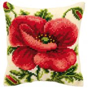 Vervaco Cross Stitch Kit Cushion Kit Oriental Poppy