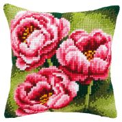 Vervaco Cross Stitch Kit Cushion Kit Anemones