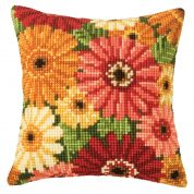 Vervaco Cross Stitch Kit Cushion Kit Gerbera