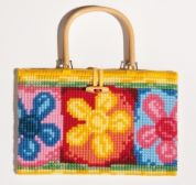 Vervaco Cross Stitch Kit Handbag Kit Bright Flowers