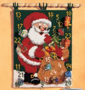 Vervaco Cross Stitch Kit Advent Calendar Father Christmas