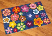 Vervaco Large Cross Stitch Rug Kit Bright Flower