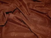 Embroidered Pinstripe Poly Lycra Dress Fabric  Brown