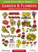 DMC Garden & Flowers Cross Stitch Motif Pattern Book Series 1