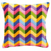Vervaco Long Stitch Kit Cushion Kit Bold Geometric Style