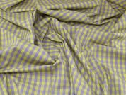 Lady McElroy Cotton Shirting Fabric  Yellow & Purple