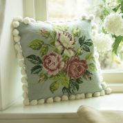 Twilleys of Stamford Green Rose Cushion Tapestry Kit