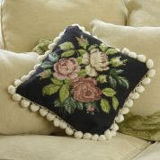 Twilleys of Stamford Black Rose Cushion Tapestry Kit