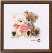 Vervaco Counted Cross Stitch Kit Popcorn Happy Valentine