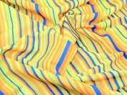 Stripe Print Polyester Fabric  Multicoloured