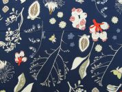 Rico Woven Cotton Fabric  Navy