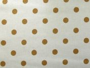 Rico Coated Cotton Fabric  Gold
