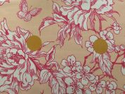 Rico Coated Cotton Fabric  Pink