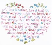 Janlynn Stamped Cross Stitch Kit Love Is Patient Stamped Kit
