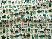 Rico Cotton Jersey Fabric  Green
