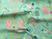 Rico Cotton Jersey Fabric  Mint Green
