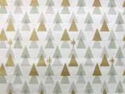Rico Woven Cotton Fabric  Gold & Silver