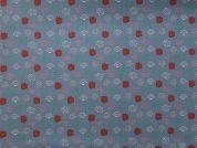Rico Woven Cotton Fabric  Blue