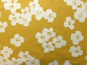 Rico Coated Cotton Fabric  Mustard