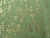 Rico Woven Cotton Fabric  Green & Gold