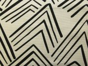 Rico Cotton Canvas Fabric  Black & White