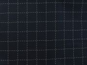 Rico Woven Cotton Fabric  Navy Blue